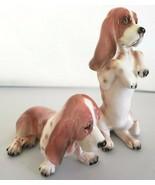 "Enesco 2 Figurines Japan ""Basil The Basset Hound"" One Sitting Down 1 Sit... - $56.10"