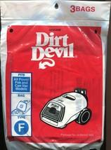 Brand New - Dirt Devil Type F Vacuum Bags 3 Pack - $3.55