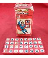 Vintage Whitman Super Heroes Dominoes Set Box 1979 Superman Wonder Woman... - $12.99