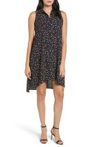 Anne Klein Womens Black Sleeveless Mini Printed Polo Shirt Dress Size 4 - $49.00
