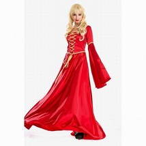 Red Renaissance Gown Costume Medium Large Womens Medieval Halloween Dres... - $59.99
