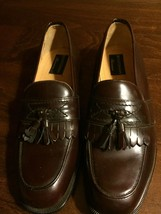 Bostonian Men's Brown Leather Tassel Slip-On Dress Shoes Loafers Size 9 M - $40.00