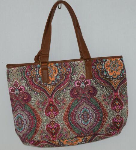 Howards Product Number 68985 Large Shoulder Bag Multi Color Paisley