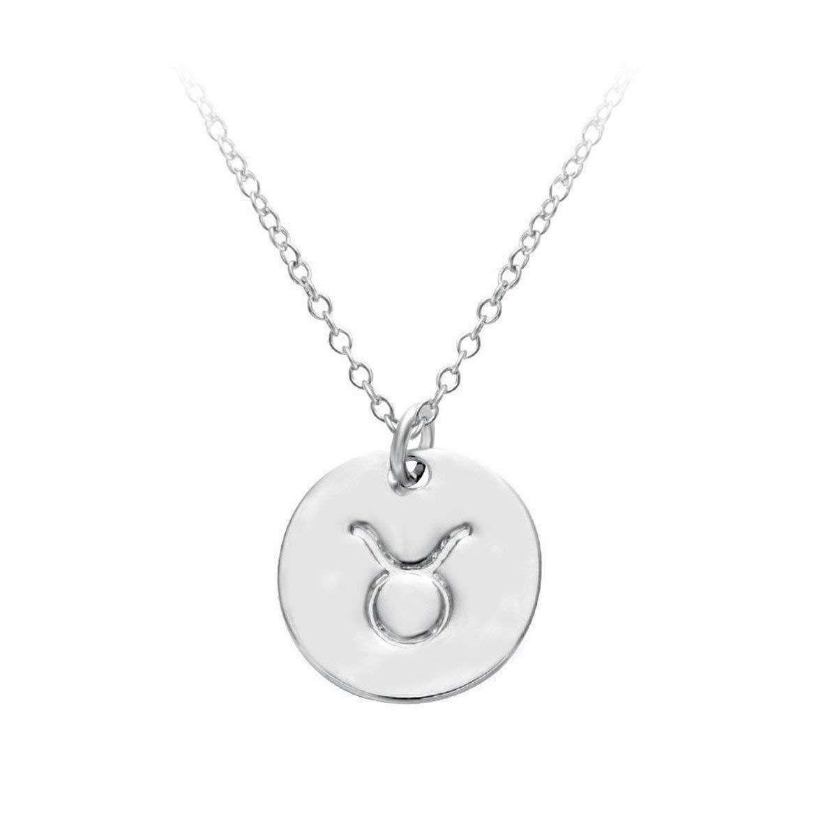 "Handmade Fashion Constellation ""TAURUS"" 925 Sterling Silver Necklace For Women"