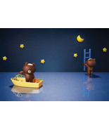 LINE Friends BROWN Magnet Character Memo Clip Holder Partition Refrigera... - $21.48+