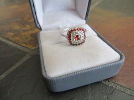 Antique Victorian 10-9k White Gold Bohemian Garnet Cut Rose Stones Ring Size 7 - $299.99