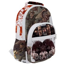Rounded Multi Pocket Backpack kids school bag walking zombies zombie blood - $53.00