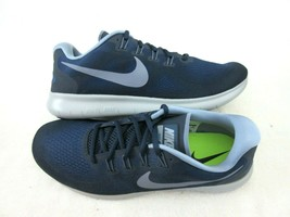 Nike Mens Free RN 2017 Running Training Shoes Binary Blue Dark Sky Blue ... - $69.29