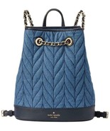 Kate Spade New York Backpack Briar Lane Quilted Denim NEW $349 Retail - $197.01