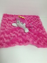 Baby Gear Security Blanket Pink Baby Doll Face Minky Swirl Satin Back Lovey - $14.82