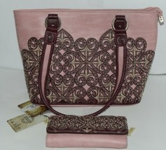 Montana West Collection MW669G 8317 Large Faux Leather Pink Conceal Carry Purse image 1