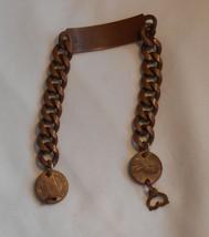 Vintage Solid Copper Penny Identification Bracelet with Blank Monogram P... - $14.99