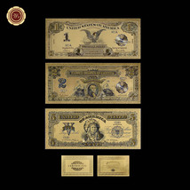 WR 1899 Series US Silver Certificates $1, $2, $5 Indian Chief Gold Bankn... - $11.54