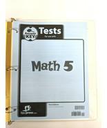 BJU Press Math Grade 5 Tests Answer Key, Third Edition - $9.89