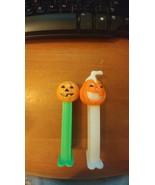 1 Pez Halloween Pumpkin Jack-o-Lantern Glow-In-The-Dark Dispenser and 1 ... - $14.03
