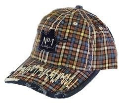 NEW TRUE RELIGION UNISEX DISTRESSED BUDDAH PLAID TRUCKER HAT CAP BROWN TR1503