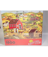 Golden Rule Days Springbok Jigsaw Puzzle 1500 pc Farm country covered br... - $24.99