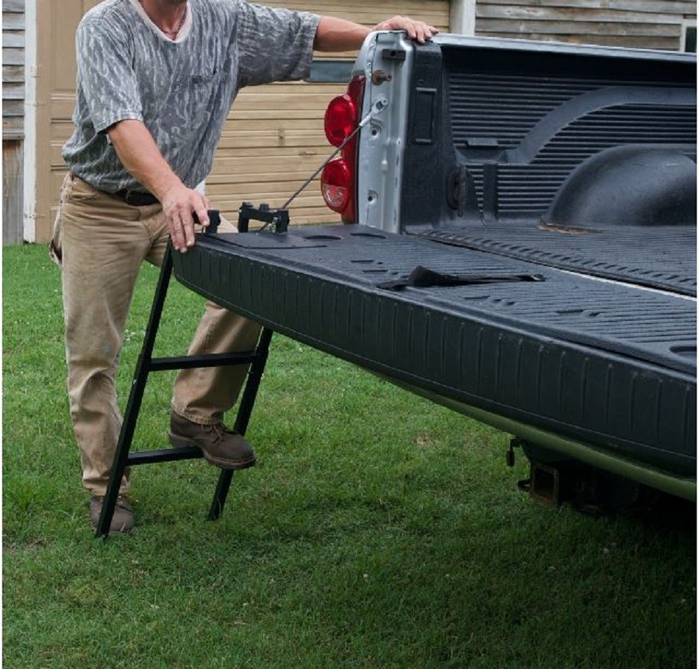 Truck tailgate ladder real front