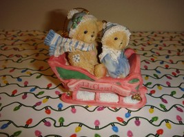 Cherished Teddies Bear Our 1st Christmas Ornament - $10.49