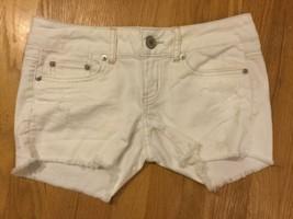 NWT American Eagle Cutoff Denim Shorts 0 Stretch Cotton Jean Distressed - $44.99