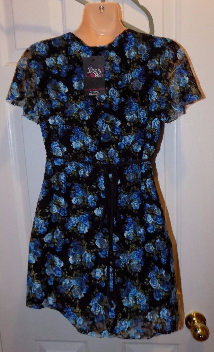 Dare To Wear Victorian Gothic Women's  Sweetheart Corset Top Blue Dream S