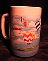 Hot Air Balloons in Sky Lg Mug-Otagiri-P. Breat... - $14.00