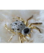 Vintage Spider Pin High Fashion Jewelry Costume Jewelry~Goth Bling Pave~... - $60.00