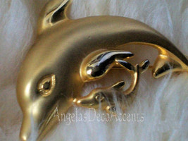 Vintage Dolphin Pin Casual Corner 1980's Fashion Jewelry~Costume Figural... - $15.00