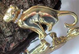 Vintage Cat Pin Whimsy Feline Brooch Costume Jewelry~Vintage Jewelry~Fashionable - $39.00