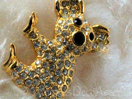 Vintage Koala Pin Pave & Gold Tone Costume Jewelry~Fashion Jewelry~Koala... - $79.00