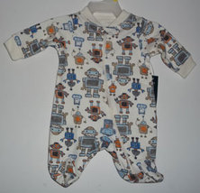 "Preemie Boys ""Robot"" Footed Sleeper - $9.00"