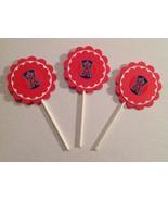Mlb Los Angeles Angels Cupcake Topper Party Deco Baseball Birthday Handm... - $12.00
