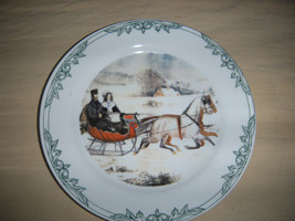 Currier & Ives Plate 2001 Winter Sleigh Ride Museum of New York City Vin... - $9.40