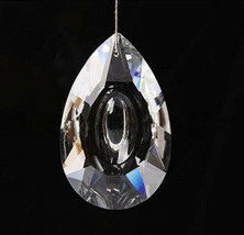 5PCS Clear Chandelier Glass Crystal Lamp Prisms With Eyeshape Hole - $5.62