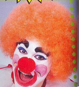 WIG CLOWN ORANGE CURLY DELUXE STYLE