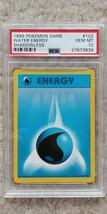 Pokemon Water Energy 102/102 Shadowless Base Set PSA 10 1999 Pokemon TCG... - $34.99