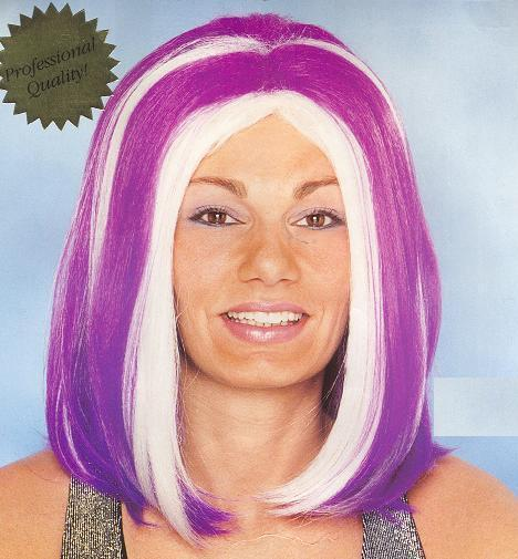 WIG LAVENDAR CANDY GIRL with WHITE STREAKS