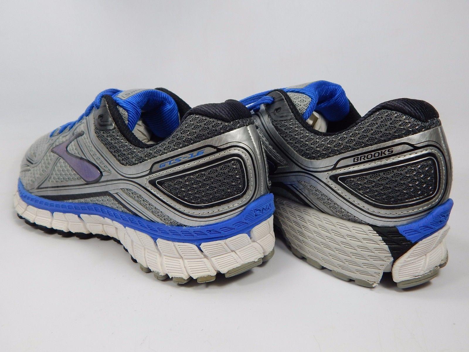 Brooks GTS 16 Men's Running Shoes Sz US 9 M (D) EU 42.5 Blue Silver 1102121D181