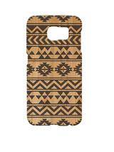 Geometric Aztec Wood Pattern Samsung Galaxy S6 Edge Hard Case Cover - $301,01 MXN