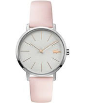 Lacoste Women's Moon Pink Leather Strap Watch 35mm - $121.54