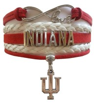 Indiana University Bloomington Hoosiers Fan Shop Infinity Bracelet Jewelry - $12.99