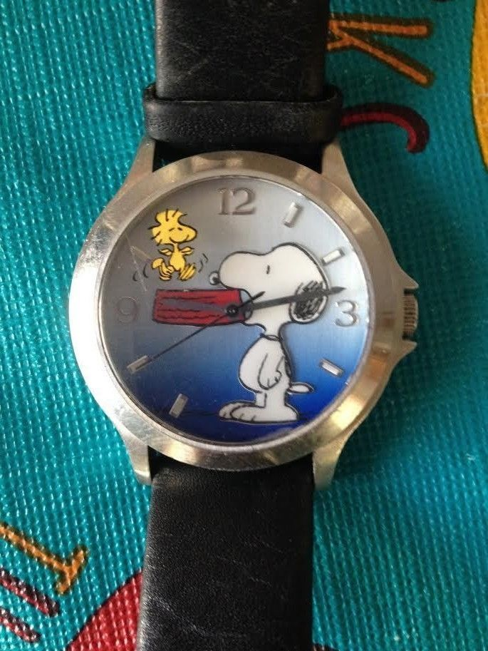 Fossil Limited Edition Peanuts Collection Snoopy & Woodstock Wrist Watch Awesome