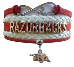 University of Arkansas Razorbacks Fan Shop Infinity Bracelet Jewelry - $12.99