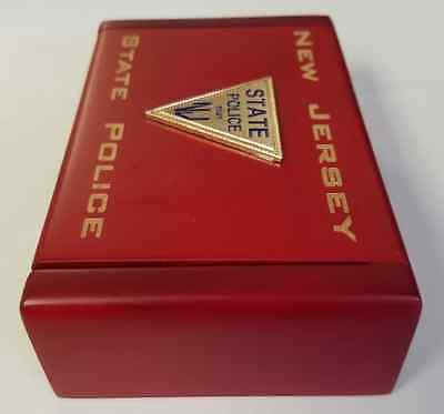 Njsp new jersey state police cherry wood and 50 similar items njsp new jersey state police cherry wood business card holder flip top reheart Choice Image