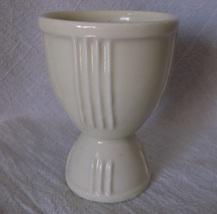 Vintage Hankscraft Egg Cup Art Deco Cream Ivory... - $17.98