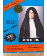 "BLACK HIPPIE, CHER, WITCH WIG 24"" LONG - $23.00"
