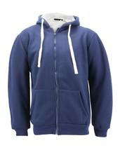 Men's Heavyweight Zip Hoodie Warm Sherpa Lined Sweater Jacket w/ Defects - 2XL