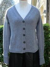 Vince Sweater Wool knit Cardigan Gray Medium M - $1.569,26 MXN