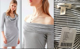 URBAN OUTFITTERS Silence + Noise stripe black white Cozette Dress NWT SM... - £34.88 GBP