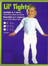 CHILD'S WHITE TIGHTS SZ MED. 60-75 LBS., 7-10 - $5.50
